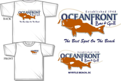 Oceanfront Bar & Grill Signtature T-Shirt